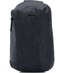 diesel denim backpack - black