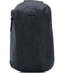 diesel denim backpack - black