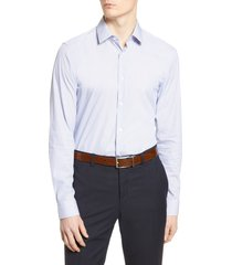 men's boss slim fit stripe travel dress shirt