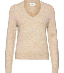 onlcorinne l/s v-neck pullover knt stickad tröja creme only