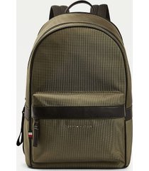 tommy hilfiger men's contrast trim recycled polyester backpack camo green -
