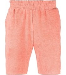 032c textured cotton track shorts - pink