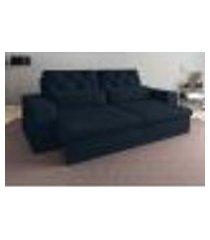 sofá 3 lugares net royale assento retrátil e reclinável petróleo 2,00m (l)