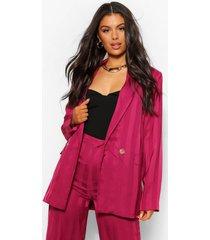 lange blazer met metallic streep, burgundy