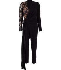 lace sleeve jumpsuit