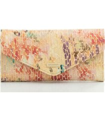 brahmin veronica junie embossed leather wallet