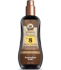 protetor solar australian gold spray gel fps 8 - 237ml único