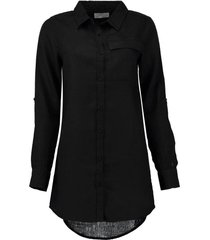 blouse lang linnen zwart