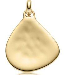large siren pendant, gold vermeil on silver