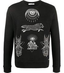 valentino embroidered motif sweatshirt - black