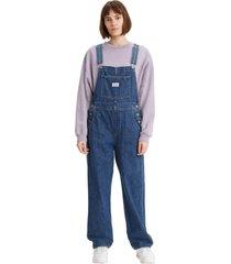 macacã£o jeans levis - 20002 azul - azul - feminino - dafiti