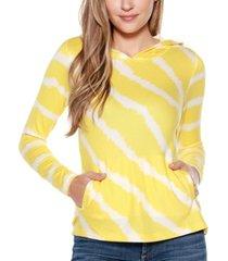 belldini tie-dye stripe hoodie