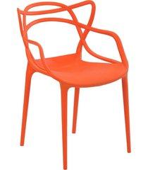 cadeira allegra laranja rivatti móveis