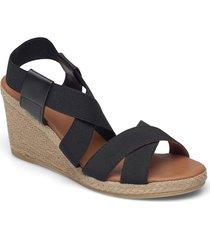 espadrilles 2667 sandalette med klack espadrilles svart billi bi