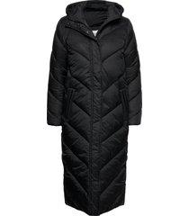 catjasz long jacket gevoerde lange jas zwart saint tropez