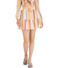bar iii striped mini skirt, created for macy's