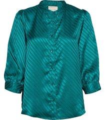 amalie shirt blus långärmad grön lollys laundry