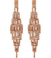 nicole miller diamond shaped chandelier earring