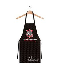avental feminino corinthians churrasqueira oficial