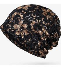 cappellino estivo da donna in cotone e pizzo