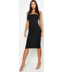 bandeau midi dress, black