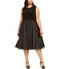 calvin klein plus size clip-dot dress