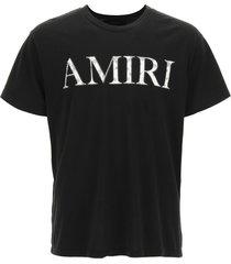 amiri bandana print logo patch t-shirt