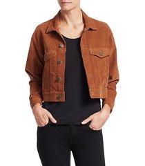 deren cropped corduroy jacket
