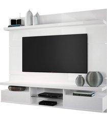 painel home suspenso 1.8 para tv até 55 sala de estar lennon branco - gran belo