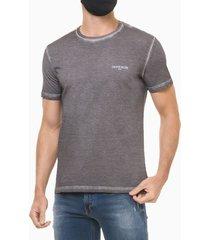 camiseta masculina básica estonada logo chumbo calvin klein jeans - pp
