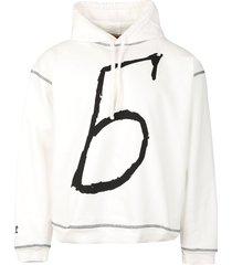 emblem hoodie grey