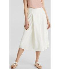 falda midi de piqué blanco esprit