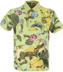 etro polo shirt with tiger and nifee