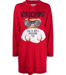 moschino teddy sweater dress - red