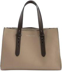 brunello cucinelli shopper bag texture calfskin large bag with monili