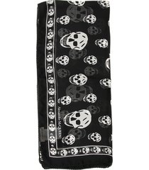 skull silk scarf