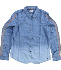 tommy hilfiger soepele denim blouse
