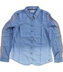 tommy hilfiger soepele denim blouse