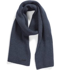 men's boss maloi ribbed scarf, size one size - blue