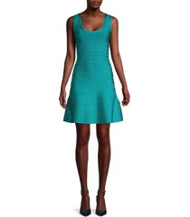 herve leger women's sleeveless bandage dress - turquoise - size s