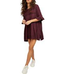 women's free people take a spin tunic, size medium - burgundy