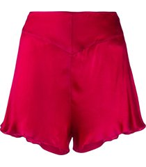 forte forte high-rise shorts - red