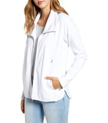 tommy bahama beachy bay zip jacket, size medium in white at nordstrom