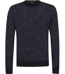 sweater azul tommy hilfiger karl c-nk cf