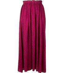 forte forte my skirt crinkle-satin a-line skirt - purple