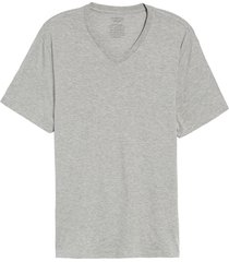 men's vince pima cotton slim fit v-neck t-shirt, size x-large - grey