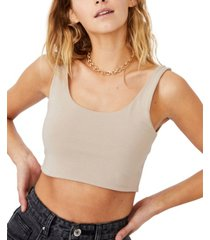 cotton on ash crop tank top