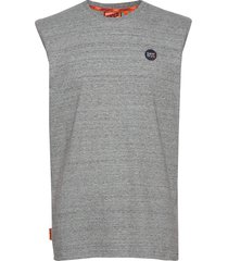 collective over d vest t-shirts sleeveless grå superdry