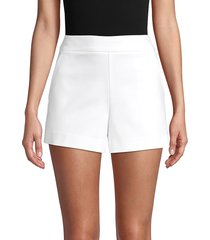 saks fifth avenue women's side-zip cotton-blend shorts - white - size 14
