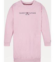 vestido polerón essential rosado tommy hilfiger